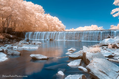 2-watermark-L (Brian M Hale) Tags: blackstone gorge outside outdoors nature water fall falls waterfall long exposure breakthrough photography filters filter rocky rock rocks trees foliage ir infrared infra red 590nm 590 newengland new england usa brian hale brianhalephoto