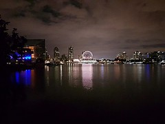 False Creek on a cloudy night (walneylad) Tags: falsecreek plazaofnations vancouver britishcolumbia canada night evening darkness lights july summer cloudy sky water reflections buildings view scenery cityscape