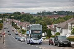 First Glasgow SF09 LDY (37746) | Route 75 | Menock Rd, Glasgow (Strathclyder) Tags: first glasgow firstglasgow volvo b9tl wright eclipse gemini sf09 ldy sf09ldy 37746 menock road kingspark scotland olympialivery caledonia dv172