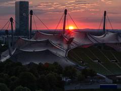 munich sunset (KalleKarl) Tags: panasonicgx85 gx80 munich münchen olympusm40150mmf4056r bayern bavaria sunset sonnenuntergang olympics olympia stadium stadion deutschland germany mft m43