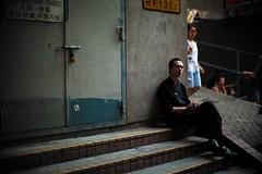 Taking a break.. (jaxting) Tags: street jaxting candid streetphotography china 香港人 香港 hongkong m240 noctilux leica