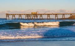 The Wharf Seascape (Merrillie) Tags: sand landscape coalloadingwharf seashore nature bay surf newsouthwales waves wharf nsw coalloader beach ocean lakemacquarie sea swansea coastal seascape natural waterscape catherinehillbay coast australia seaside
