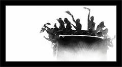 Les champions ! (Jean-Louis DUMAS) Tags: blackandwhite champion football foot brouillard misty fog blanc noir noiretblanc nb bw