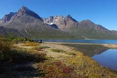 Day 7: Beautiful morning at Tasersuaq lake (Northern Adventures) Tags: greenland greenlandic southerngreenland north deepnorth valley hike hiking walk walking trek trekking track tracking backpacking wandering adventure outdoor outdoors journey trip exploration nature scenery scenic