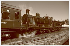 IMGP1098 (Steve Guess) Tags: aviemore scotland scottish highlands gb uk railway station strathspey steam heritage preserved line caledonian loco locomotive 828 060