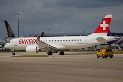 Swiss - Bombardier C-Series 300 HB-JCM @ London Heathrow (Shaun Grist) Tags: hbjcm bombardier cseries 300 shaungrist swiss lhr egll london londonheathrow heathrow airport aircraft aviation aeroplanes airline avgeek