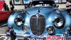 1960 Jaguar 2.4 / 240 Mk2 (ManOfYorkshire) Tags: 210wpa classic car preserved restored heritage nostalgia jaguar 24 240 mk2 blue metallic 2483cc 25litre 25l petrol saloon londontobrighton auto automobile run display brighton show 1961 1960 chrome grille motoring