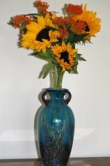 Sunflowers in Vase (eyriel) Tags: flower flowers nature macro vase arrangement