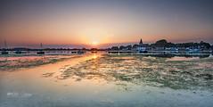 Harbour weed (Through Bri`s Lens) Tags: westsussex boshamharbour hightide seaweed algae sunset church canon5dmk3 canon1635f4 leefilters brianspicer