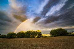 Natural colors (Danilo Agnaioli) Tags: collinedelperugino umbria perugia italia natura canon6d sigma1224 arcobaleno cielo nuvole alberi tramonto