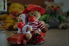 HAPPY TEDDY BEAR TUESDAY     JORIS & BORIS (Anne-Miek Bibbe) Tags: bear teddybear beertje teddybeer beer speelgoedbeer nounours speelgoed toy spielzeug giocattoli juguetes bringuedos jouets clown happyteddybeartuesday canoneos700d canoneosrebelt5idslr annemiekbibbe bibbe nederland 2018