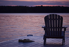 (donna leitch) Tags: flippers fins dock summer sunset muskokachair ontario cottage lake canon100mmf28lmacro