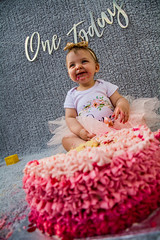 Baby Zayla-30 (Andy barclay) Tags: baby happy birthday 1st toddler girl cake smash one first smile messy portrait young pink