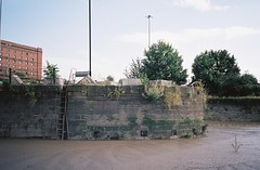 Harbour wall from the silt (knautia) Tags: riveravon bristol england uk july 2018 film ishootfilm olympus xa2 olympusxa2 kodak kodacolor 200iso nxa2roll34 river avon mud cumberlandbasin floatingharbour lowtide