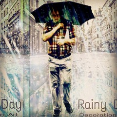Rainy Day  Decoration Art  雨の街を一人り歩く男を、編集加工しました。 (nodasanta) Tags: instagramapp square squareformat iphoneography uploaded:by=instagram sutro