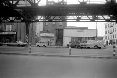 040571 11 (ndpa / s. lundeen, archivist) Tags: nick dewolf nickdewolf blackwhite monochrome blackandwhite 35mm film photographbynickdewolf bw april 1971 1970s boston massachusetts streetphotography city citylife mta mbta elevated elevatedline orangeline washingtonstreet car cars vehicle vehicles automobile automobiles parkedcars stairs stairway t charlie elevatedstation business store shop buildings storefront van minivan laytons layton5¢to100store dollarstore tbd brighterday thebrighterday people may