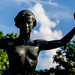 Staue of a naked woman in Gorky Park