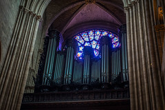 The organ pipes inside the church were pretty spectacular.