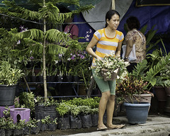 Flower Seller (Beegee49) Tags: street flowers seller filipina bacolod city philippines