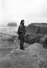 (SamBHart) Tags: nikonfm2 35mmfilm bw bwfilm blackandwhite 24mmlens nikkor autobiographical personal friends oregon statepark oregoncoast coast ocean overcast foggy capekiwanda