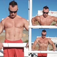 outdoor pushups (ddman_70) Tags: shirtless pecs abs muscle outdoor workout treasuretrail pushups