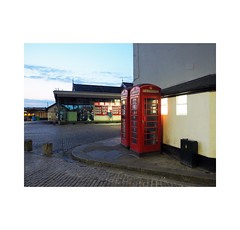 phoneboxes (chrisinplymouth) Tags: corner street phonebox red barbican plymouth devon england uk cw69x telephone inexplore explored desx xg diagonal r136 diag trait 2018 perspective