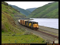 gnwr-moses-wa-4-16-2017a (funnelfan) Tags: train railroad railway shortline locomotive pnw pacificnorthwest snake river washington gp40w spring