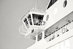Sea Captain (Elliot the Giraffe) Tags: bw boat captain sea sky hurtigruten bodø harbor night ship