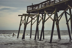 Provoked/2 (trevormarron) Tags: pier hurricane torn tattered worn weathered desolate sunset evening