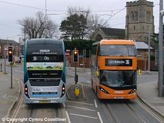 Bus or Tram? (Cymru Coastliner) Tags: nottinghamcitytransport nct scanian280ud enviro400city biogas 426 yp17ufj 444 yn18sxc bus beeston nottingham