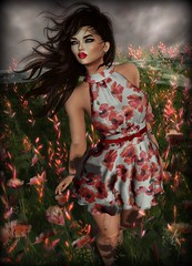 Sunday Reflection (Kat Wylder) Tags: zibska poppies deaddollz ultra bloom argrace emarie anlarposes secondlife second life 2ndlife mesh blog blogger blogging avie avatar