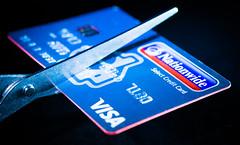 The first cut is the deepest (grbush) Tags: plastic macromondays macromonday macro closeup creditcard money banking finance scissors cut snip sonyilce7 tamronaf90f28disp
