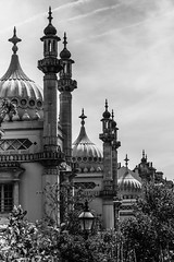 Dreaming domes (Anthony P.26) Tags: travelphotography travel architecture architecturephotography royalpavilion brighton eastsussex uk england english greatbritain unitedkingdom mono monochrome blackandwhite whiteandblack bw ornamental oriental decorative palace shapes curves design canon70d canon1585mm canon outdoor