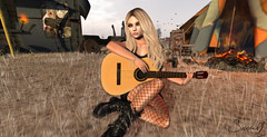 Me and my guitar (Just1sarah) Tags: guitar secondlife danu pose photography