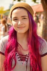 Pink and purple (radargeek) Tags: plazafest plazawalls 2017 september plazadistrict oklahomacity purplehair portrait pinkhair smile