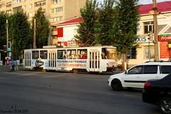Утренний трамвай (Aleksey Guskov) Tags: ульяновск россия трамвай город транспорт утро мыльница russia ulyanovsk tram tranvía tramway tramvaj morning