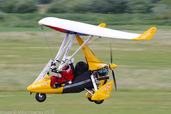 G-GTRE - 2014 build P & M Aviation Quik GTR Explorer, arriving on Runway 26L at Barton during FlyUK 2018 (egcc) Tags: 8674 austin barton cityairport egcb explorer flexwing ggtre lightroom manchester microlight pmaviation quik quikgtr weightshift flyuk