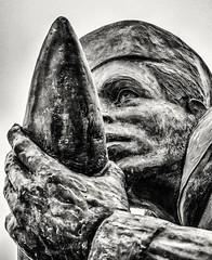 DDay Memorial (Andy J Newman) Tags: france monochrome om us american beach blackandwhite dday landings memorial normandy olympus silverefex statue utah utahbeach saintemariedumont normandie fr