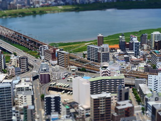 Minature View from Sky Building