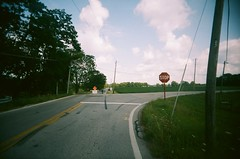 Creek Road (Jim Davies) Tags: vivitarultrawideandslim vivitar expired hardexpired kodak portra 160vc colourfilm 35mm film filmfilmforever analogue veebotique plasticcamera toycamera uws 2017 believeinfilm plastic compact summer