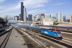 Chicago Afternoon Departure (PNW Rails Photography) Tags: chicago illinois unitedstates metra f40phm2 winnebago the way to really fly union station roosevelt road bnsf line passenger yard train emd metx