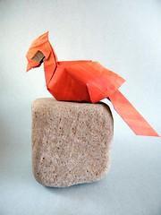Cardenal - Ynon Toledano (Rui.Roda) Tags: origami papiroflexia papierfalten cardinal oiseau bird pájaro pássaro cardenal ynon toledano