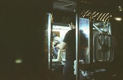 Ektachrome night crawlers 5: unfased (NYC Macroscopist) Tags: foodtruck july4th 4thofjuly independenceday latenight street newyork manhattan unionsquare ektachrome film vintage analog moody atmospheric urban leica summilux lowiso expiredfilm retrochrome160 slidefilm lowlight summer
