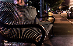 After sunset (kud4ipad) Tags: 2017 miami smcpentaxda1645mmf40 night bench street