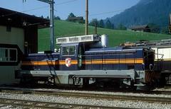 MOB 2004  Zweisimmen  14.08.83 (w. + h. brutzer) Tags: zweisimmen eisenbahn eisenbahnen train trains schweiz switzerland railway diesellok mob webru analog nikon