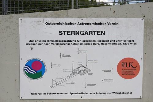 """Wien, Freiluftplanetarium Georgenberg (""""Sterngarten"""")"""