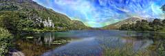 Kylemore Abbey - Irlanda (Antonio-González) Tags: kylemore abbey irlanda ireland eire lago agua paisaje montaña cielo árbol photoshop