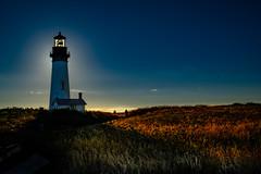 Yaquina Head Light Newport Oregon 1-7428-2 (Ron Biedenbach) Tags: lighthouse yaquina newport oregon evening sky landscape