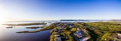 Panorama yfir Stykkishólm (Tabergid) Tags: stykkishólmur westernregion iceland drone dji phantom3 sunset sea islands town 2018