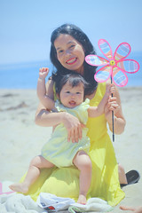 Nancy 1st Birthday! (Awesome Dreamer) Tags: babies first birthday sweetie little girl babygirl beach blue yellow pink sand brother mommy family love smiles cute